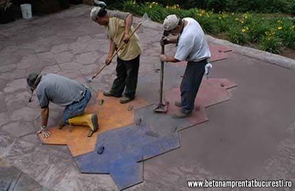 Ce este betonul amprentat?